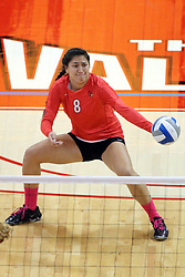 12 October 2013:   Stacey Niao during an NCAA womens volleyball match between the Missouri State Bears and the Illinois State Redbirds at Redbird Arena in Normal IL