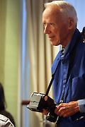 """Photographer Bill Cunningham at b.michael America Spring 2010 Collection """" Advanced American Style """" held at Christie's in Rockefeller Plaza on September 16, 2009 in New York City."""