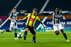 Lloyd Kerry of Harrogate Town controls the ball - Mandatory by-line: Robbie Stephenson/JMP - 16/09/2020 - FOOTBALL - The Hawthorns - West Bromwich, England - West Bromwich Albion v Harrogate Town - Carabao Cup