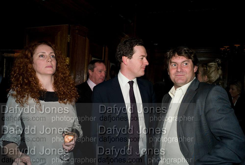 REBEKAH WADE; GEORGE OSBORNE; CHARLIE BROOKS, Book launch for Citizen by Charlie Brooks. Tramp. London. 1 April  2009