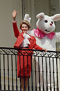 First Lady Nancy Reagan waves at the White House Easter Egg Roll in April 1981...Photograph by Dennis Brack BBBs 20