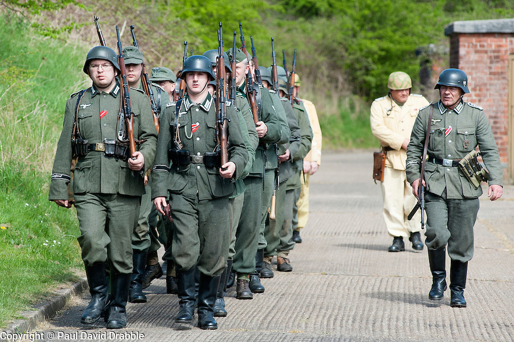 Axis Reenactors of the NWW2A drill at Fort Paull on Sunday ..5 May 2013.Image © Paul David Drabble