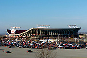 Fans tailgate at Arrowhead Stadium before an AFC Divisonal playoff between the Indianapolis Colts and the Kansas City Chiefs in Kansas City, Mo. on Sunday, Jan. 11, 2004.
