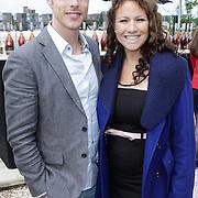 NLD/Amsterdam/20120601 - Uitreiking Talkies Terras Awards 2012, zwangere Jessica Mendels en haar personal trainer Julien Oosterbaan