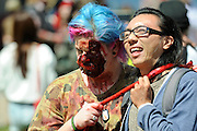 "The inaugural ""Join the Horde"" Zombie Walk in Perth, Western Australia, Oct 12, 2013.<br />