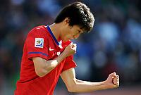 Esultanza di Lee Chung Yong (Corea del Sud)<br /> Argentina Corea del Sud 4-1 - Argentina vs South Korea 4-1<br /> Campionati del Mondo di Calcio Sudafrica 2010 - World Cup South Africa 2010<br /> Soccer Stadium, Johannesburg, 17 / 06 / 2010<br /> © Giorgio Perottino / Insidefoto