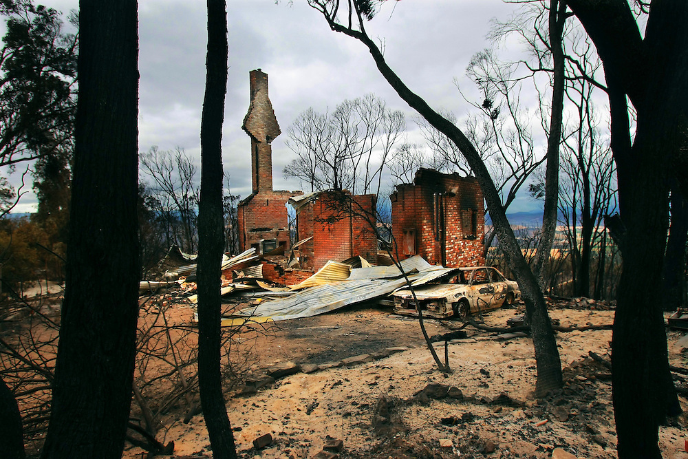 A house on Skyline drive near Yarra Glen which was burnt out in bush fires    Pic By Craig Sillitoe 13/02/2009 SPECIAL 000 melbourne photographers, commercial photographers, industrial photographers, corporate photographer, architectural photographers, This photograph can be used for non commercial uses with attribution. Credit: Craig Sillitoe Photography / http://www.csillitoe.com<br /> <br /> It is protected under the Creative Commons Attribution-NonCommercial-ShareAlike 4.0 International License. To view a copy of this license, visit http://creativecommons.org/licenses/by-nc-sa/4.0/.
