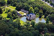 Nederland, Overijssel, Almelo, 30-06-2011; Kasteeltje Huize Almelo met slotgracht en park..Moated castle Huis Almelo and park..luchtfoto (toeslag), aerial photo (additional fee required).copyright foto/photo Siebe Swart