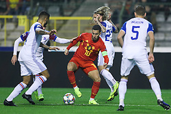 2018?11?16?.    ??????——?????????????.    11?15????????Eden Hazard???????????????????.    ??????????????????????A??2????????????2?0??????.    ????????? ?32?0?496539019..SP-FOOTBALL-UEFA NATIONS LEAGUE-BELGIUM-ICELAND.Eden Hazard of Belgium faces the defence of Iceland during a League A Group 2 match of the UEFA Nations League between Belgium and Iceland at the King Baudouin Stadium in Brussels, Belgium, Nov. 15, 2018. Belgium beat Iceland by 2-0. (Credit Image: © Zheng Huansong/Xinhua via ZUMA Wire)