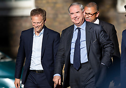 © Licensed to London News Pictures. 22/07/2019. London, UK. Grant Shapps (L), Attonrney General Geoffrey Cox and James Cleverly (R) arrive for Prime Minister Theresa May's farewell drinks reception at Downing Street.  Voting in the Conservative party leadership election ends today with the results to be announced tomorrow. Photo credit: Peter Macdiarmid/LNP