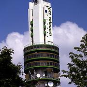 NLD/Hilversum/20080424 - Televisie toren KPN Hilversum met reclame