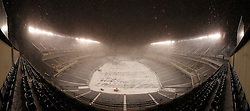 Snow falls on Lincoln Financial Field in Philadelphia, Pennsylvania on Sunday December 26th 2010. This image is a composite of multiple images stitched to create a panorama. (Photo By Brian Garfinkel)