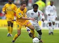 Fotball<br /> Lyon v Nantes<br /> 20. mars 2004<br /> Foto: Digitalsport<br /> Norway Only<br /> <br /> FREDERIC DA ROCHA (NAN) / MAHAMADOU DIARRA (LYON) *** Local Caption *** 40001088