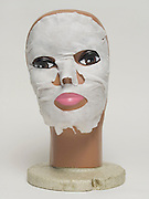Mannequin head wearing facial mask