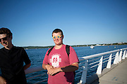 Shadow Armada hangs out in Traverse City, Michigan on July 10, 2014.