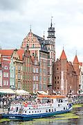 Gdańsk, (woj. pomorskie) 18.07.2016. Długie Pobrzeże - deptak nadwodny w Gdańsku na Głównym Mieście.