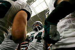 18 Jan 2009: Philadelphia Eagles linebacker Tracy White #54 in a huddle before the NFC Championship game against the Arizona Cardinals on January 18th, 2009. The Cardinals won 32-25 at University of Phoenix Stadium in Glendale, Arizona. (Photo by Brian Garfinkel)