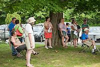 Kiwanis members and friends gather for the 70th Anniversary celebration of the Kiwanis Pool in St. Johnsbury Vermont.  Karen Bobotas / for Kiwanis International