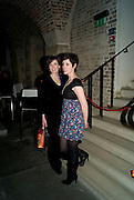FIONA SINNOTT; CONNIE FISHER, A little Night Music press night. Garrick Theatre and afterwards at CafŽ in The Crypt, St Martin-in-the-Field. London. 7 April 2009<br /> FIONA SINNOTT; CONNIE FISHER, A little Night Music press night. Garrick Theatre and afterwards at Café in The Crypt, St Martin-in-the-Field. London. 7 April 2009