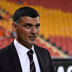 BRISBANE, AUSTRALIA - APRIL 21: Brisbane Roar coach John Aloisi looks on before the Hyundai A-League Elimination Final match between the Brisbane Roar and Western Sydney Wanderers at Suncorp Stadium on April 21, 2017 in Brisbane, Australia. (Photo by Patrick Kearney/Brisbane Roar)